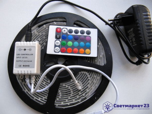 Комплект RGB ленты 4,8вт/м IP65