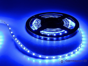 Светодиодная лента 4,8 Вт/м синяя IP20