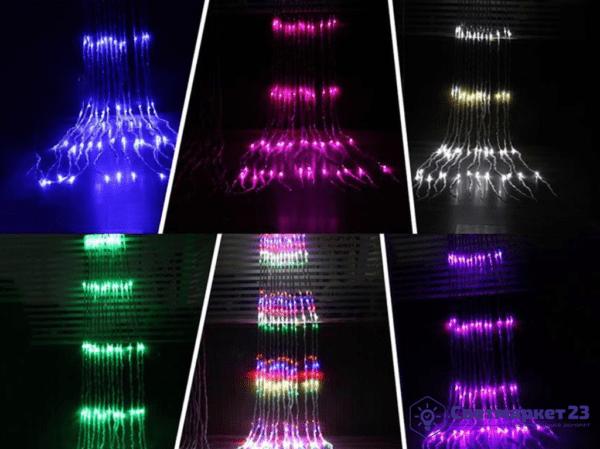 Электрогирлянда ВОДОПАД RGB 160LED
